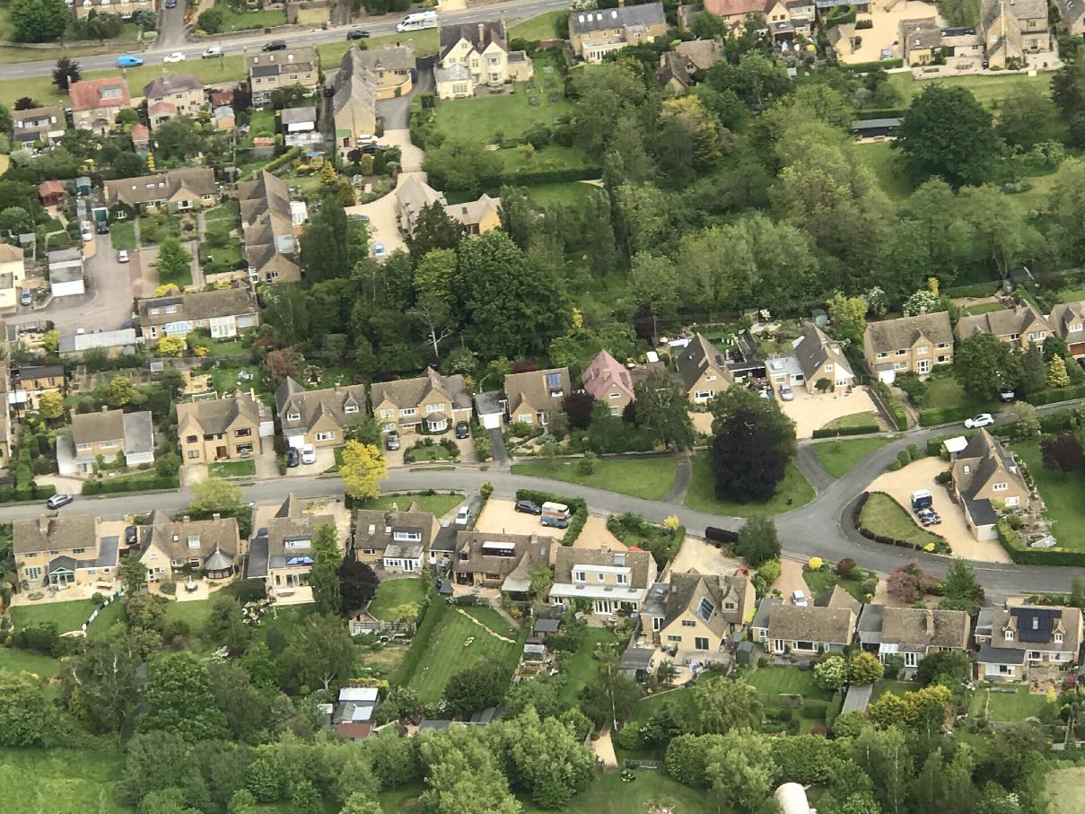 Aerial View of Willersey, UK