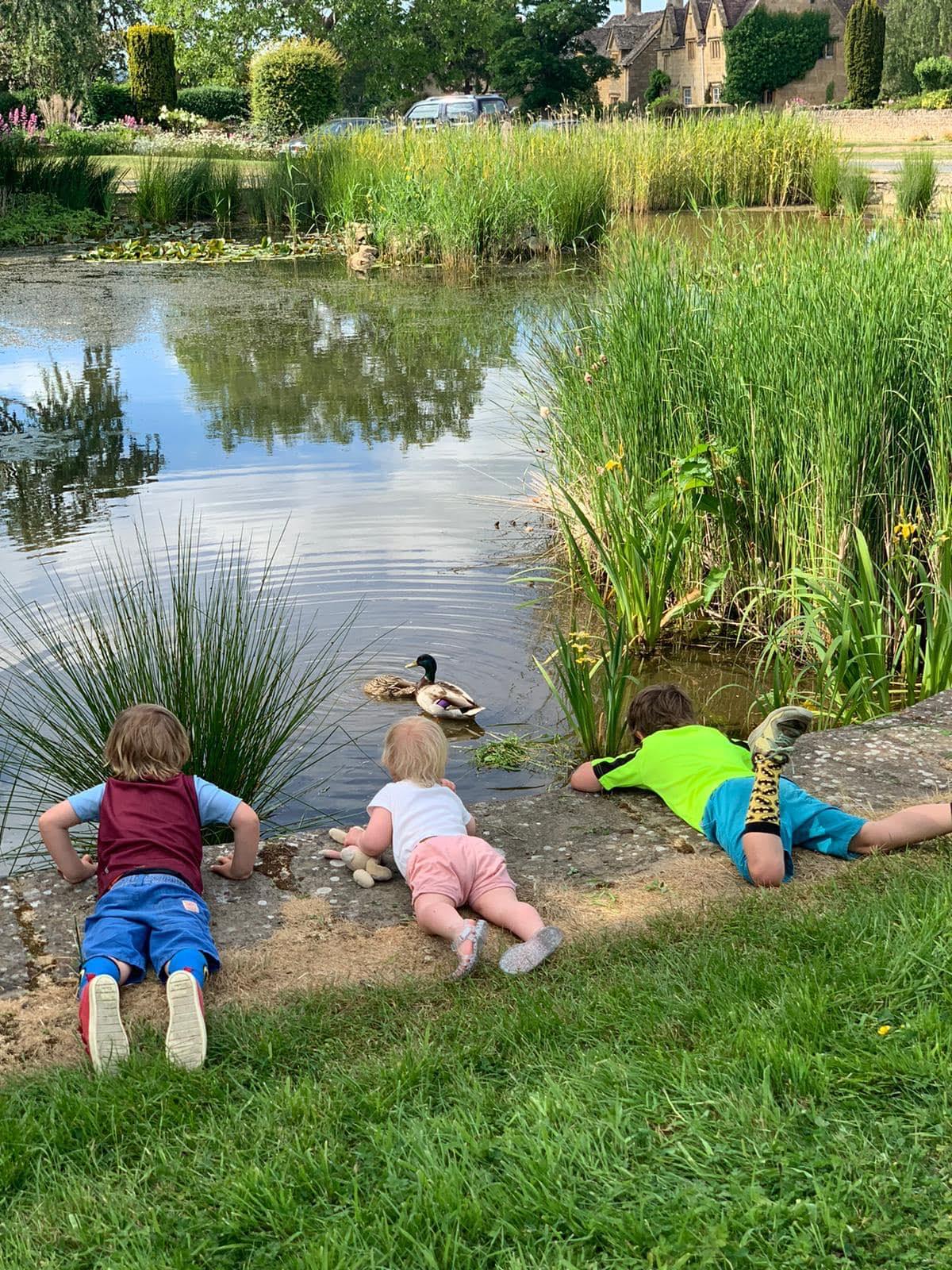 Children at Willersey pond