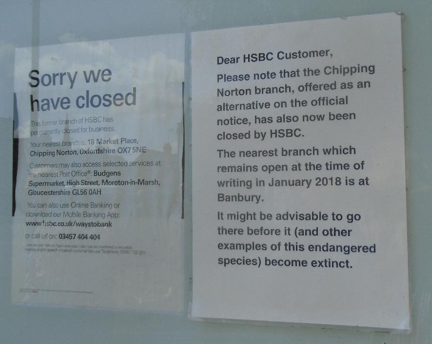 Closed HSBC in Moreton