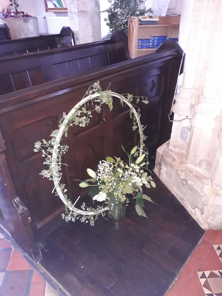 Patronal Flowers in Willersey Church June 2019