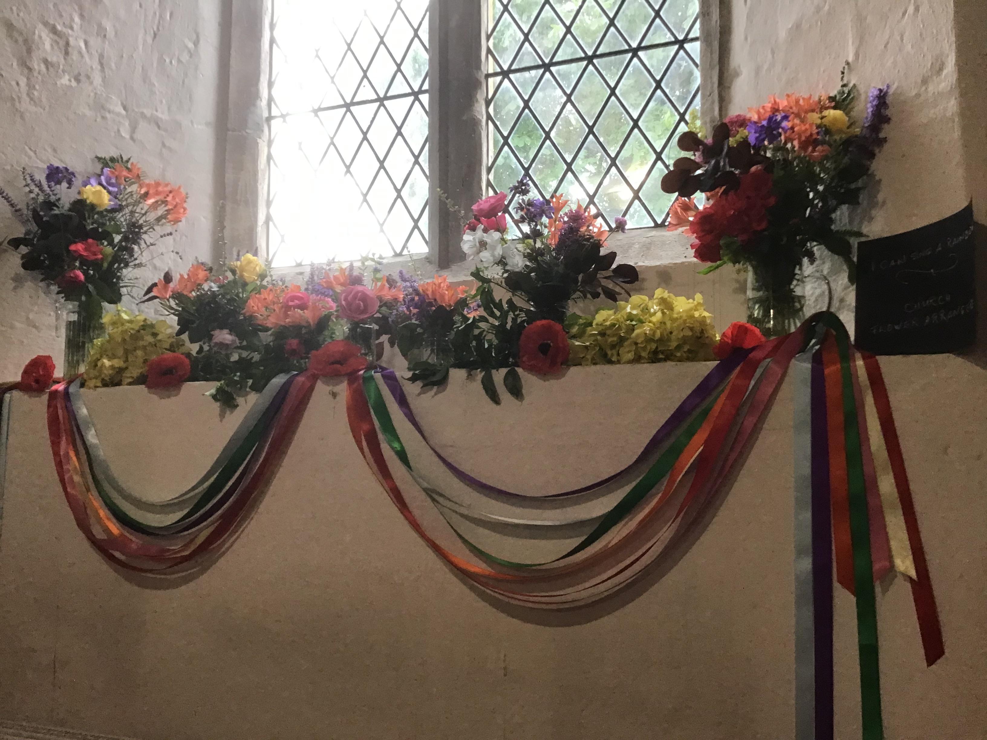 Patronal Flowers in Willersey Church June 2021