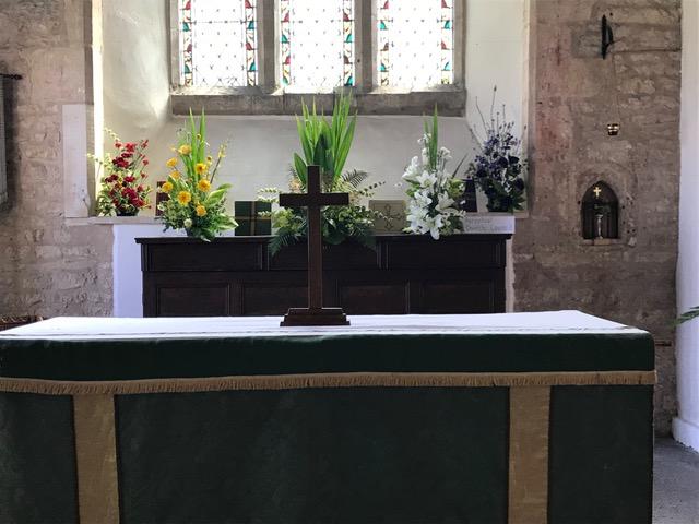 Flowers Willersey Church 2018 Altar Team