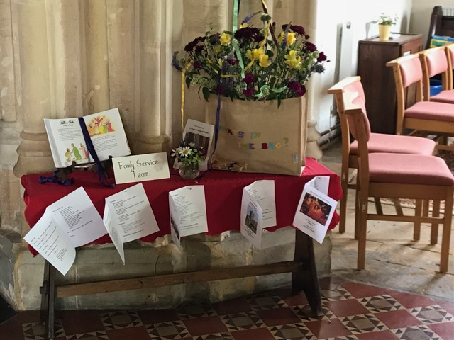 Flowers Willersey Church 2018 Family Service