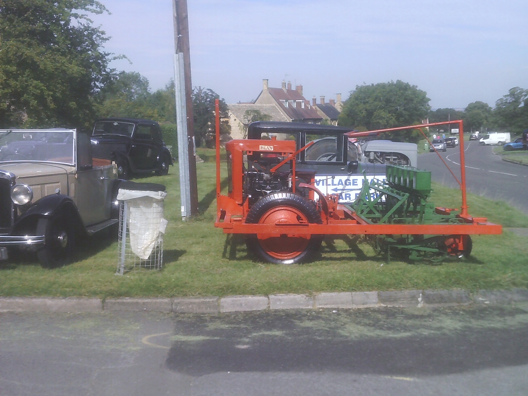 Vintage seed drill at the Willersey Show