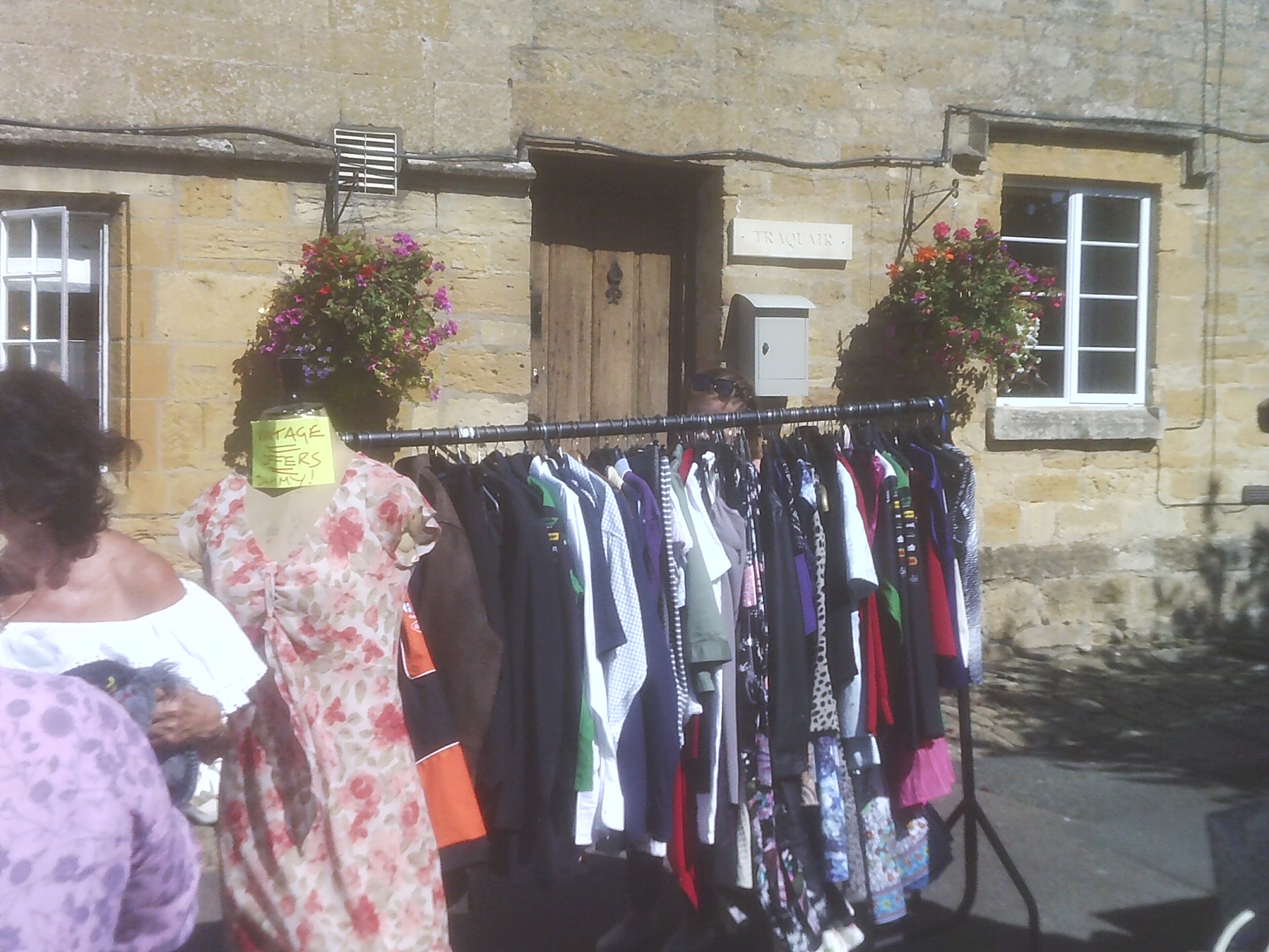 Clothes for sale at the Willersey Show