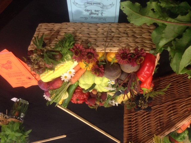 Produce basket at the Willersey Show