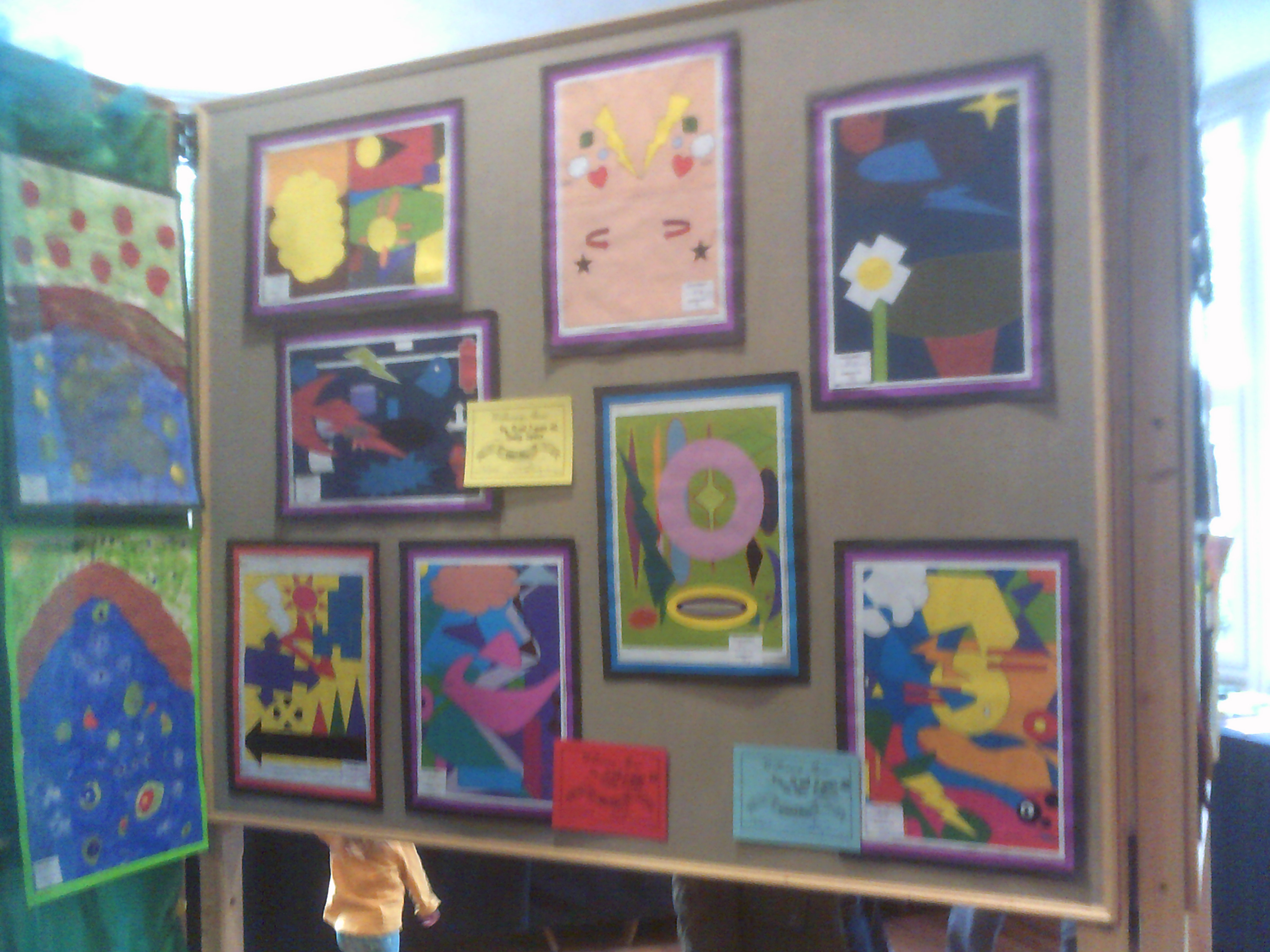 Childrens Paintings at the Willersey Show