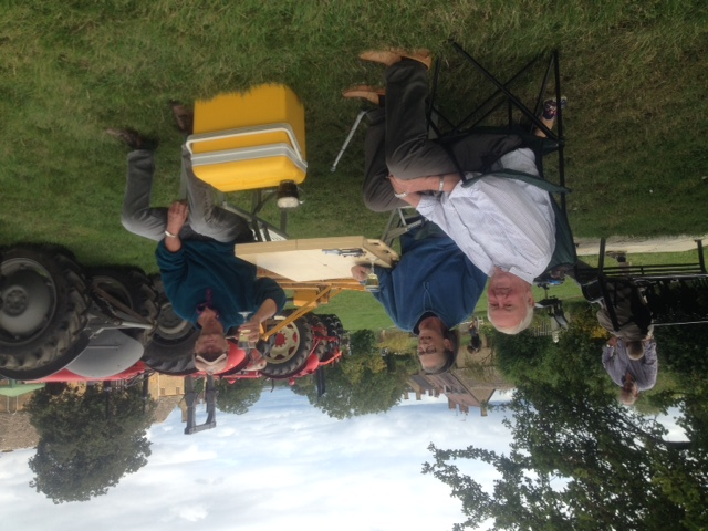 Tractors and Peter Taylor at the Willersey Show