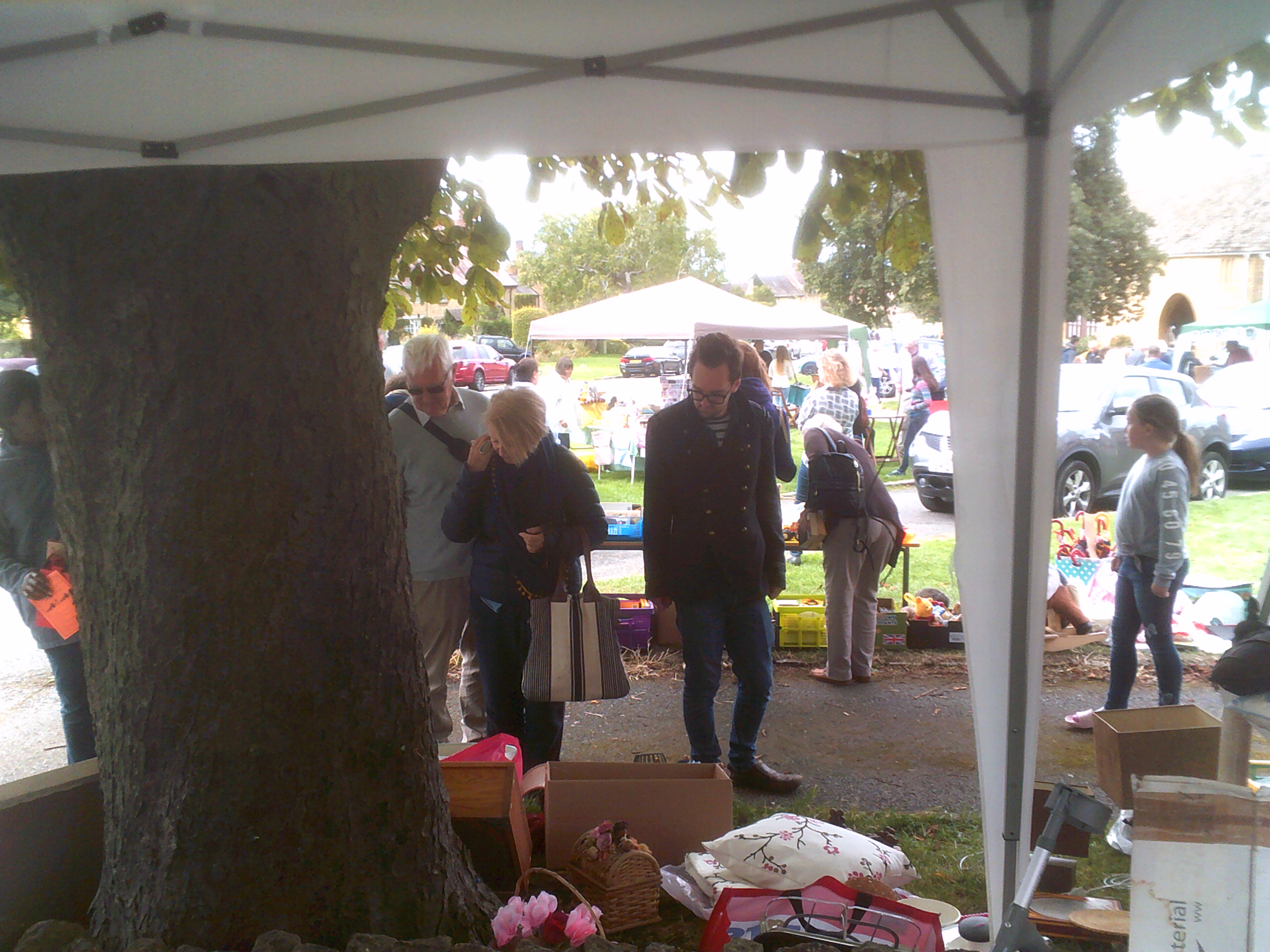 Bric-a-brac stall at the Willersey Show