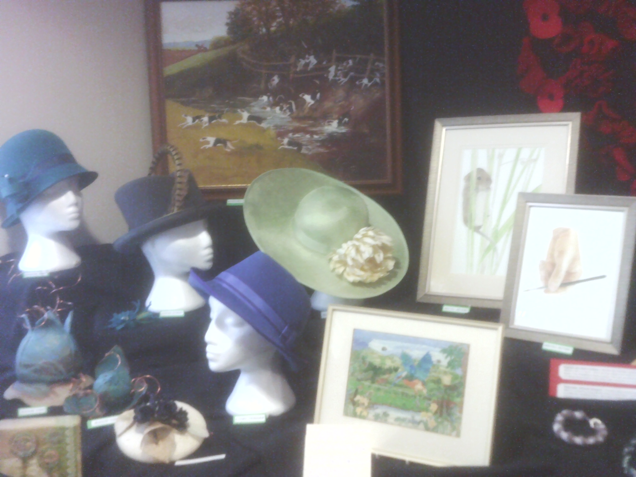 Hats and pictures at the Willersey Craft Show