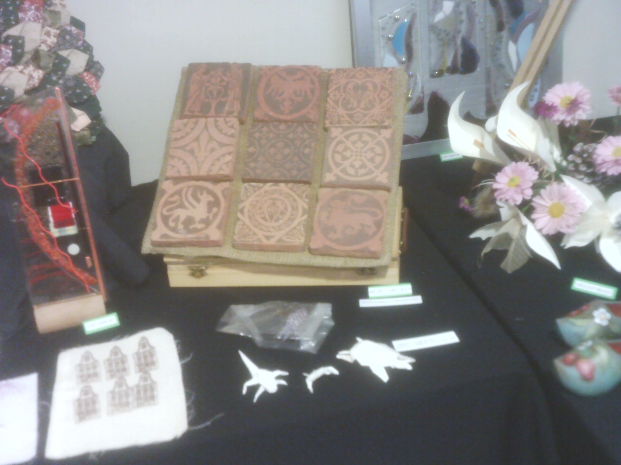 Tiles and origami at the Willersey Craft Show