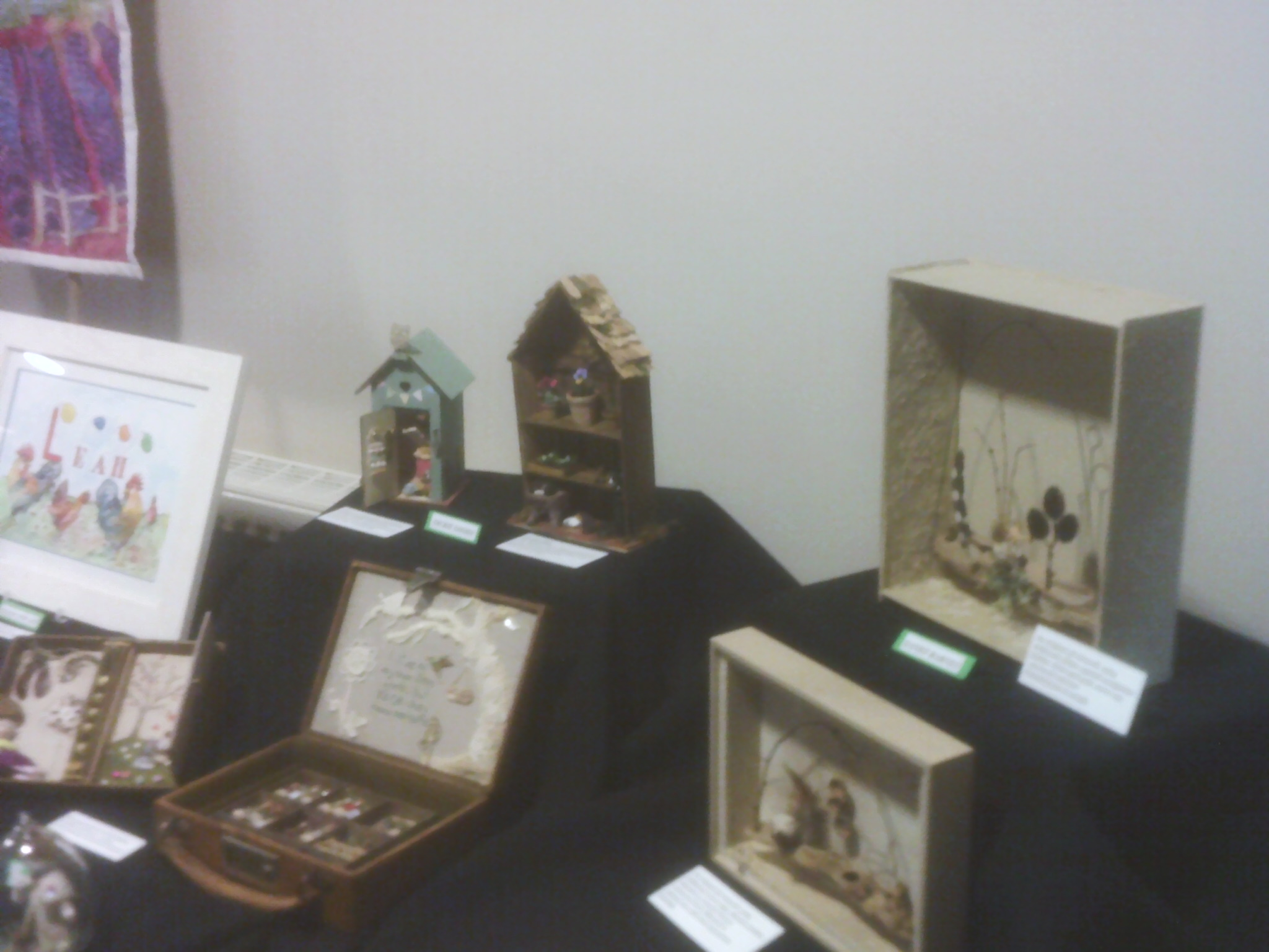 Decorated boxes at the Willersey Craft Show