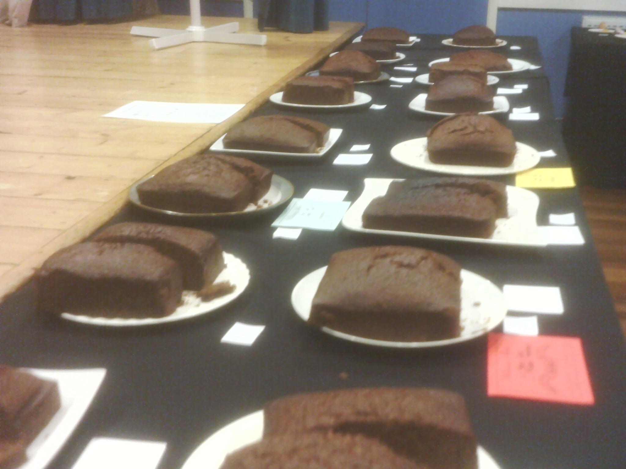 Mens ginger cakes  at Willersey Horticultural Show