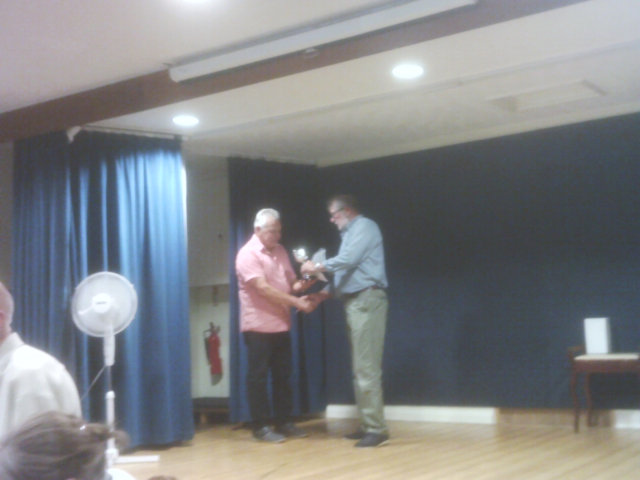 Eric Beadle cup to Peter Bond at Willersey Horticultural Show