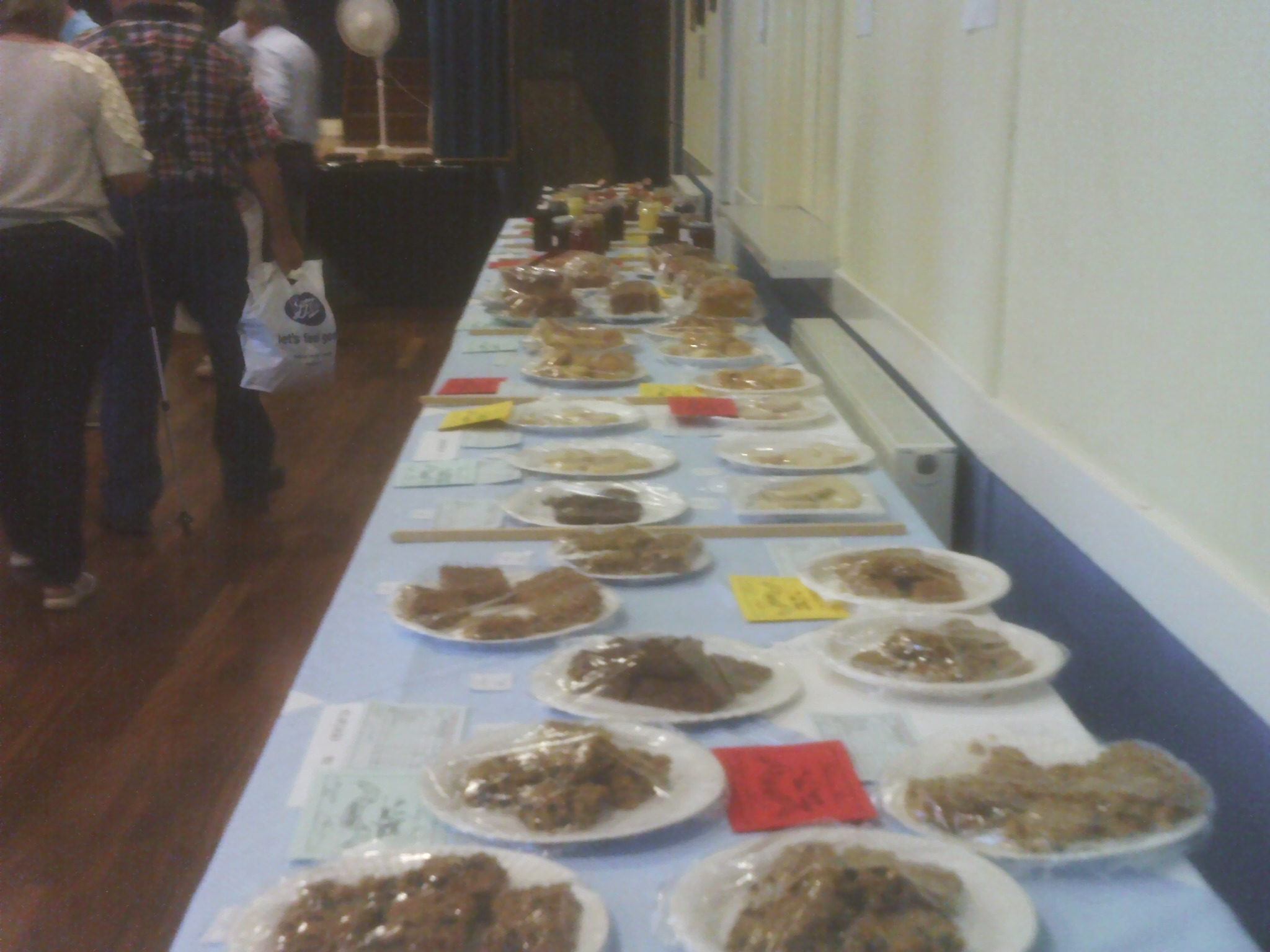 Fruit and cakes at Willersey Horticultural Show