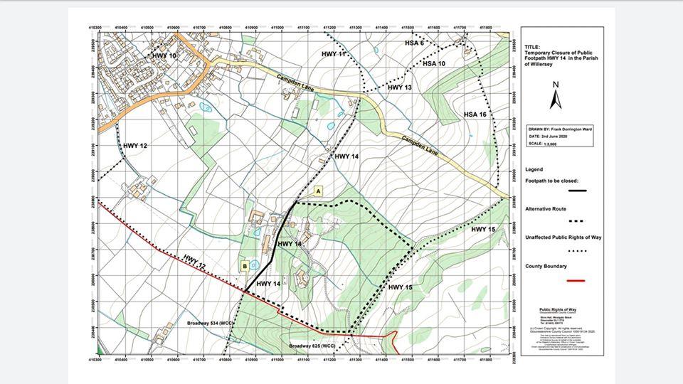Divert Farncombe path