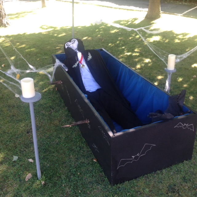 Count Dracula's Rest Scarecrow