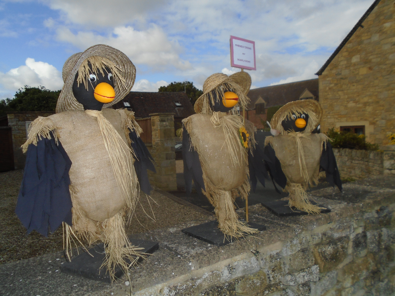 Friendly Crows Scarecrows, Willersey 2019