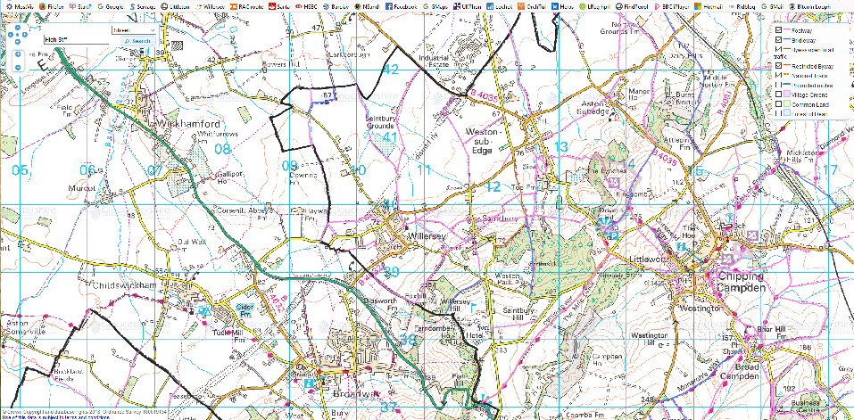 Willersey Defined Gloucestershire Footpaths