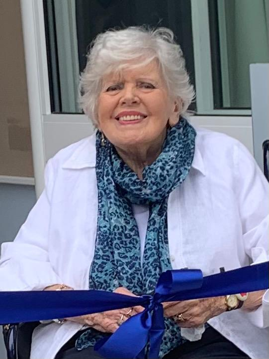 Mildred opening Willersey Village Hall July 2021